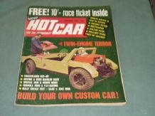 HOT CAR October 1968 - VW, Rally Saab vs BMC 1800, 750 racing, Custom Cars